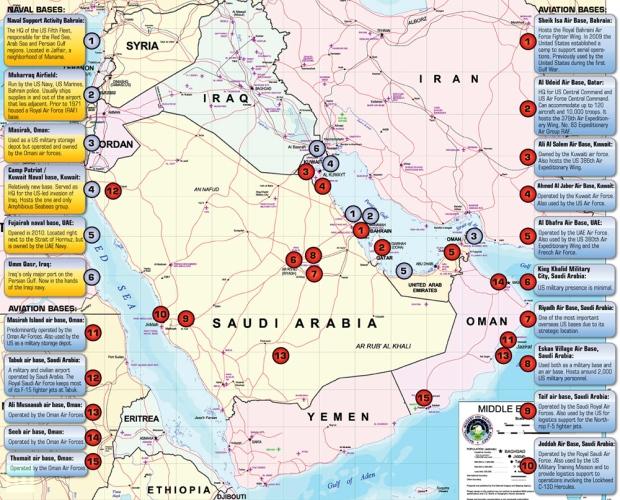 bases en el golfo persico