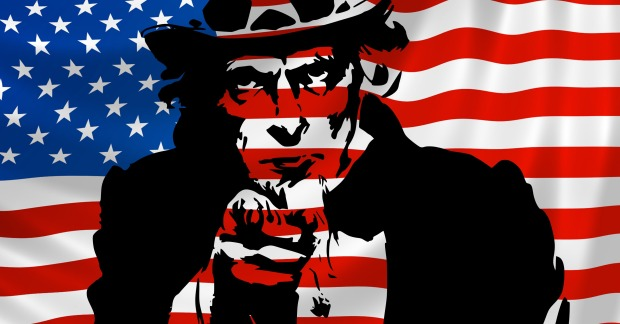 uncle-sam-in-front-of-american-flag
