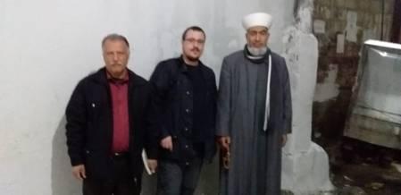 Con Mohamed Kallam y el líder político Salim Hijab en Shatila