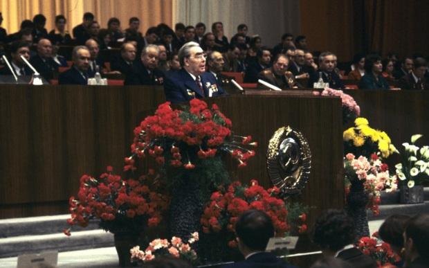 Л. И. Брежнев на 18 съезде комсомола